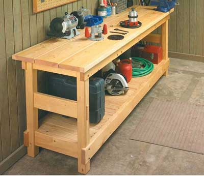 large work bench plans