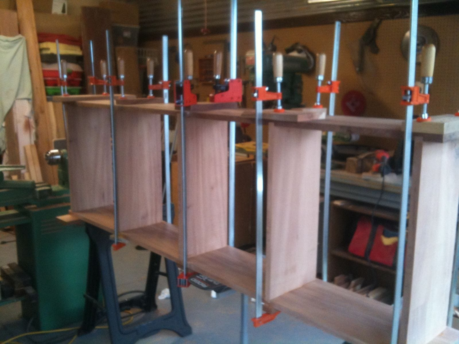 glue up of shelf