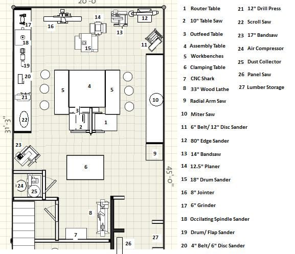 3857 Shop Layout 3 on Woodworking Shop Layout Floor Plans