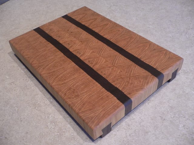Hickory & Walnut End Grain Cutting Board