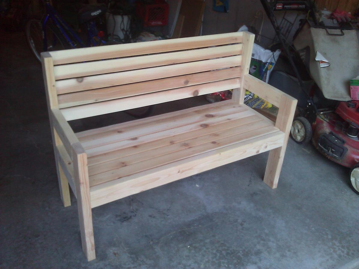 Permalink to wooden yard bench plans