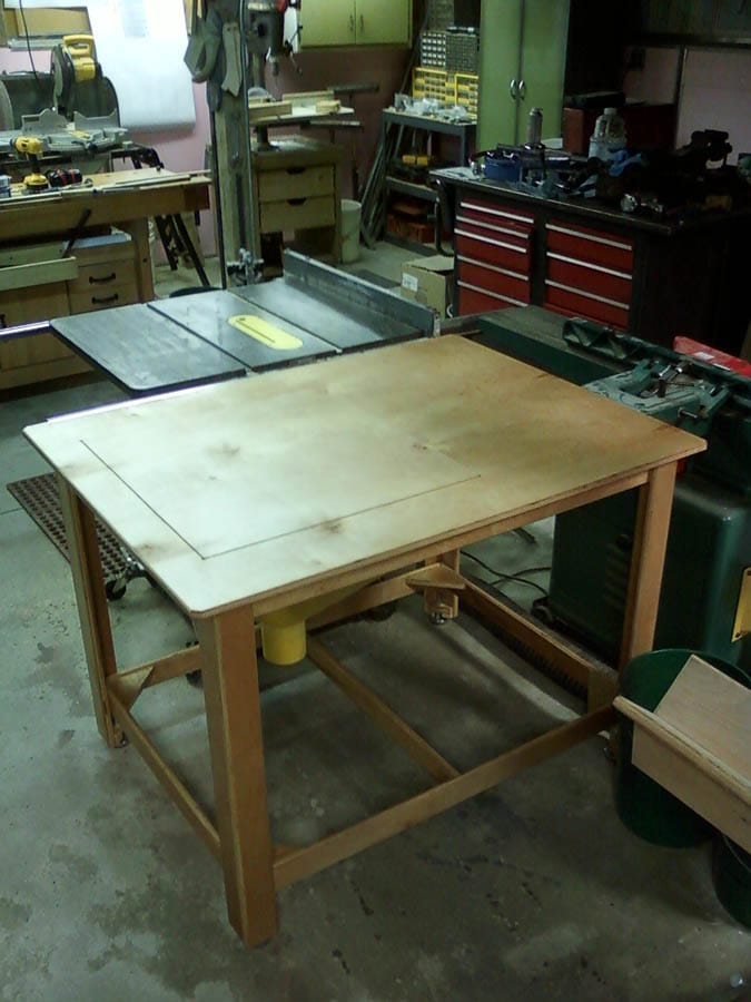 Table Saw Side Extension The Shop Wood Talk Online