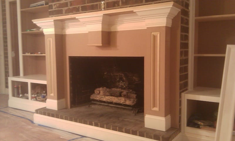 Attaching Mdf Mantel To Existing Brick Fireplace General Woodworking Talk Wood Talk Online