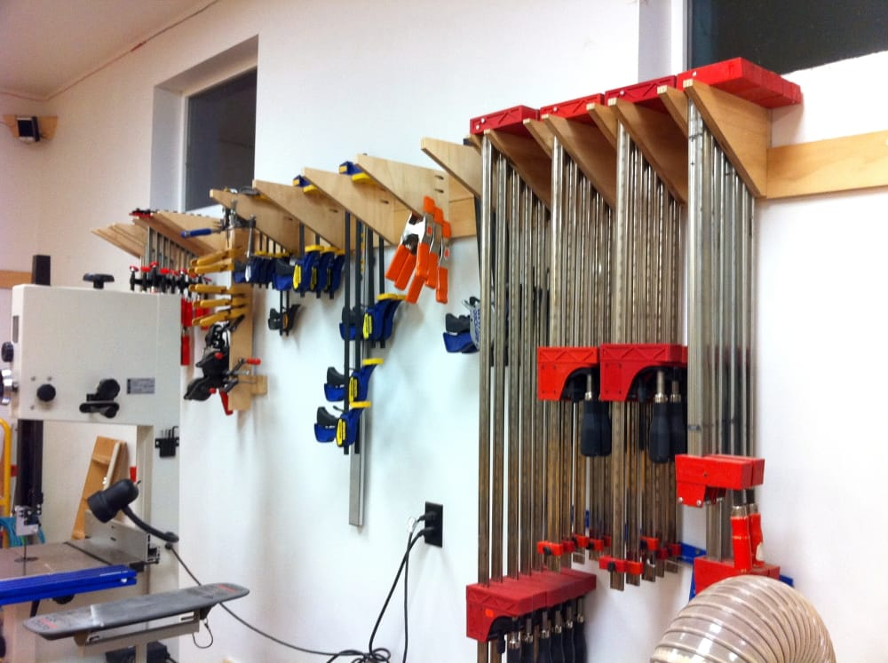 Wood Whisperer Clamp Storage