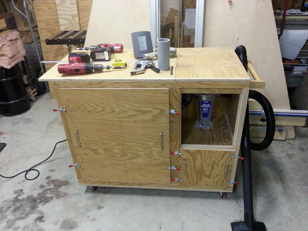 Portable Dust Collectors For Woodworking : Portable dust collection cart with noise reduction