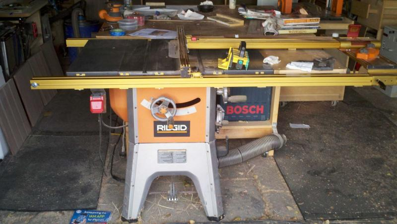 Ridgid Table Saw With 32 Inch Incra Fence Shop Stuff