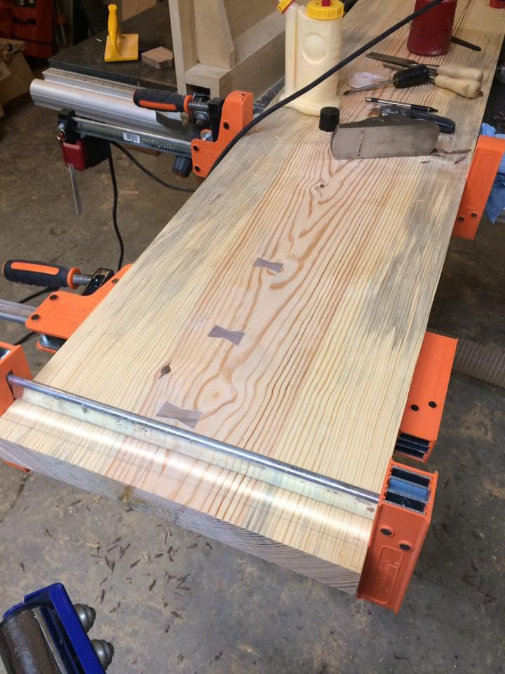Pine slab countertop finish finishing wood talk online for How to finish a wood slab
