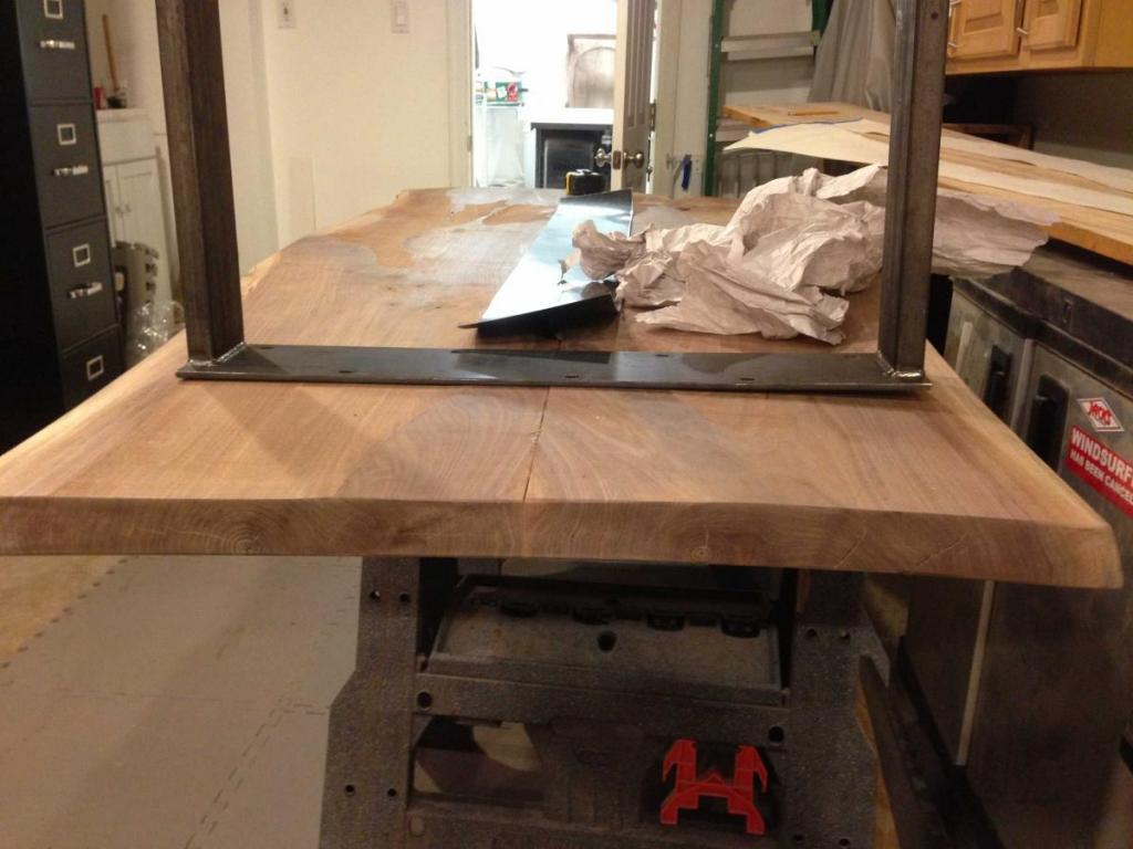 How To Get Dining Table To Flatten To Metal Base Warped