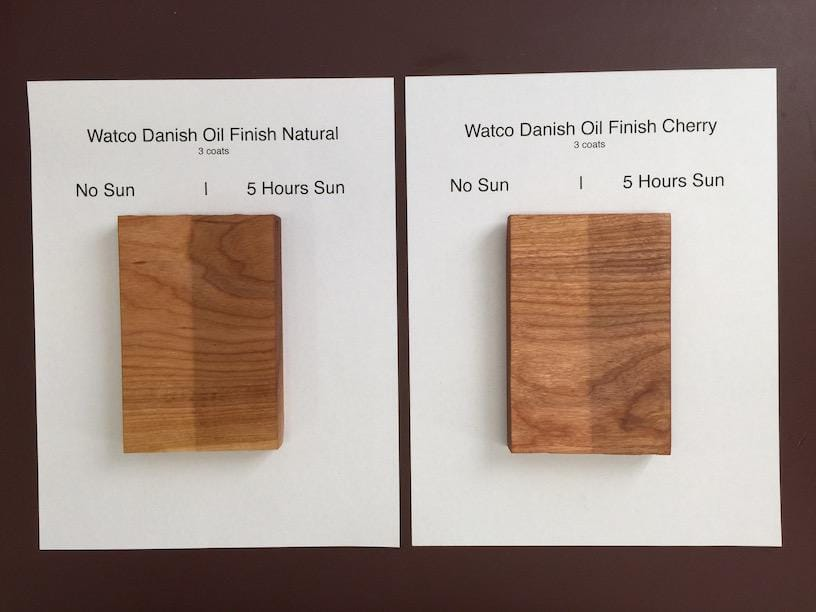 Natural Danish Oil On Pine