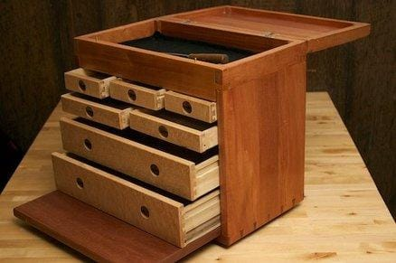 Toolbox Open drawers