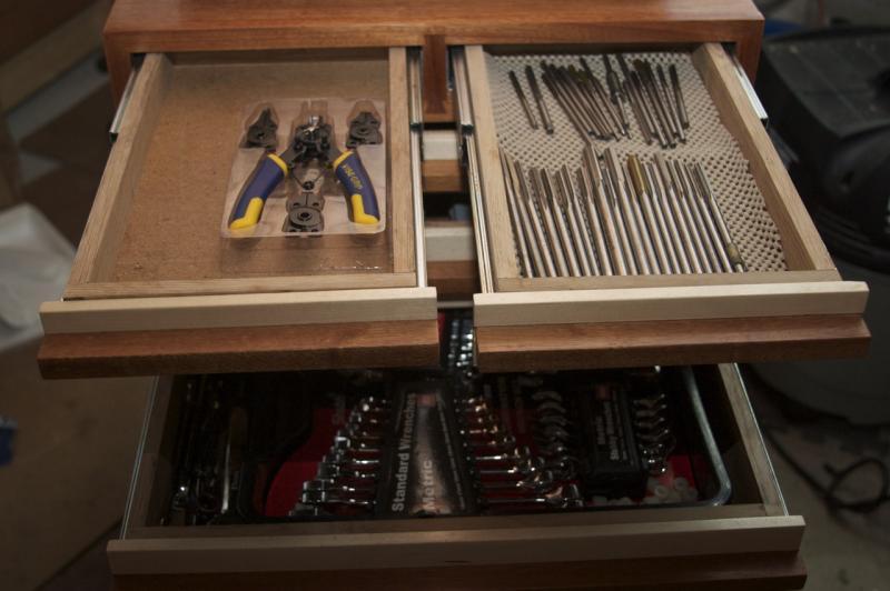 Toolcart top drawers