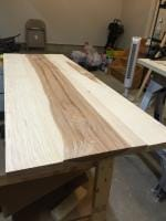 Bench seat after initial smoothing
