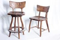 My latest design of stools and chairs in walnut
