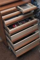 Toolcart drawers open