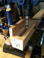 Lumber Bench Top 4 - Mortising the legs