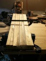 Lumber Bench Top 2 - Gluing up the legs
