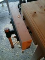 Lumber Bench Top 7 - Vise installed