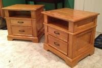 Oak Night stand pair