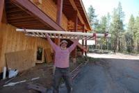 Spindles for Log Cabin