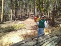 My buddy Helmut who helped me get some of the wood.