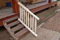 Temporary rails for my temporary entry stairs