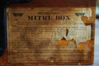 Back of Mitre Box