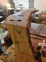all the mortises are cut and the first leg is attached