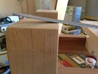 putting a subtle chamfer on the top inside edges of the legs