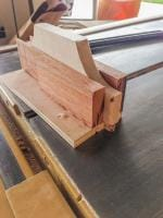 a jig I made for cutting the shouldered tenons