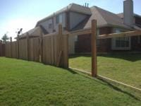 fence is being constructed