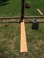 Method of encapsulating the steel posts and make them appear as 7x8s part II