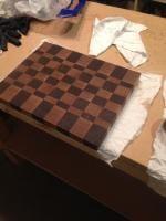 End Grain Cutting Board (Walnut and Maple)