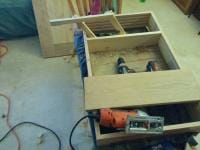 Mock up of hinges with some excess pine