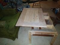 Table with hinges open