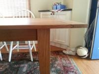 Oak Table End Detail