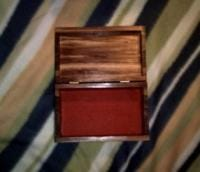 red felt lined cedar jewelry box