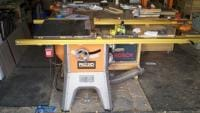 Ridgid table saw with 32 inch incra fence
