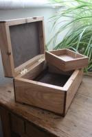 small jewellery Box In Oak And walnut
