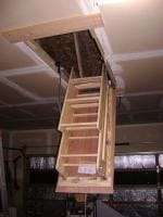 Attic stairs for the shop