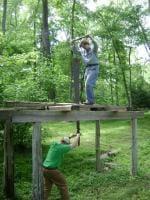 Pit sawing demo