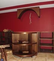 Curved wine rack