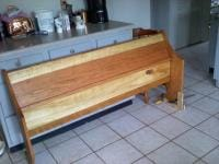 Foot Board all Oiled up and with 2 coats of Wax
