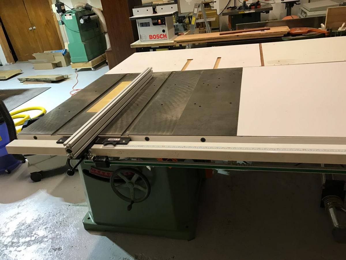 Does anyone use rack pinion table saw fence general woodworking in case you are wondering why all my work surfaces are white the local lowes carries white formica along with some other hideous colors keyboard keysfo Choice Image
