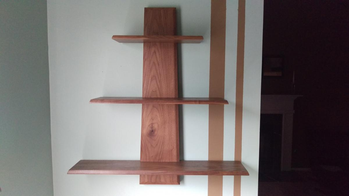 Super simple wall shelf project journals wood talk online - What did the wall say to the bookcase ...