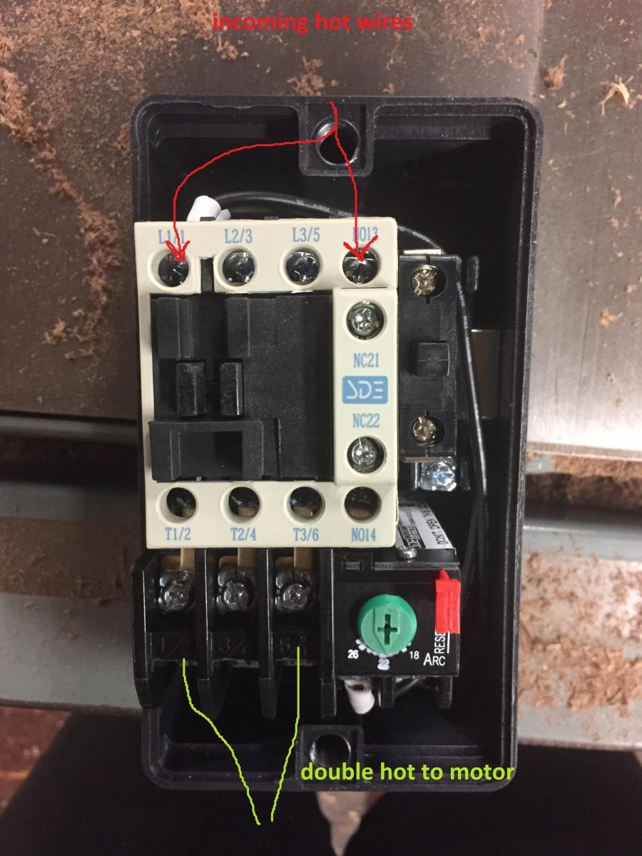 wiring 220v magnetic switch power tools wood talk online Starter Relay Wiring Diagram