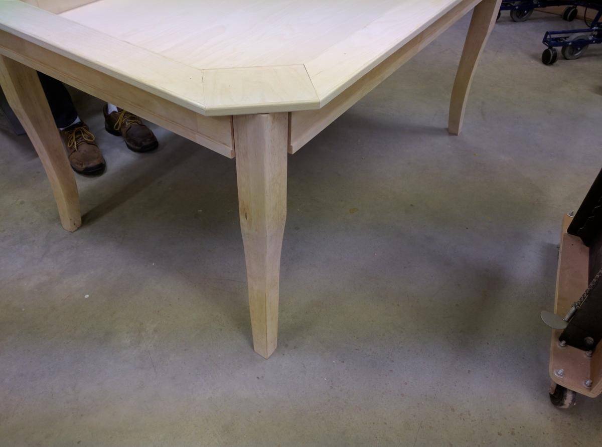 Frankengamingtable vaulted game table from repurposed for Repurposed kitchen table