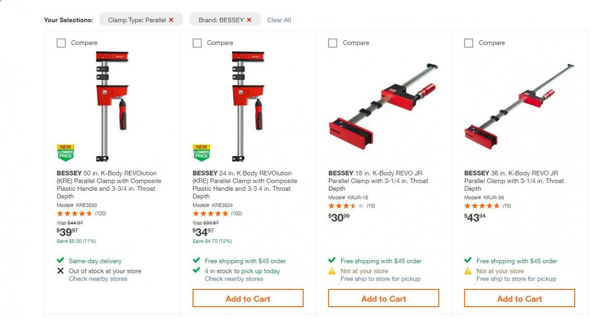 Bessey Clamp Question General Woodworking Talk Wood Talk Online